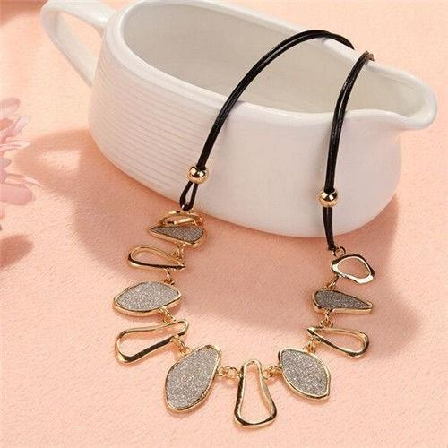 Women Fashion Chain Choker Bib Statement Charm Collar Pendant Necklac