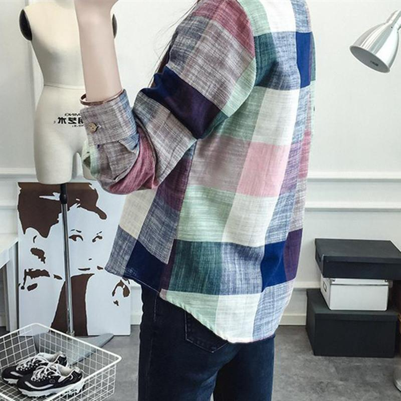 Women Plaid Blouse And Shirt Ladies Female