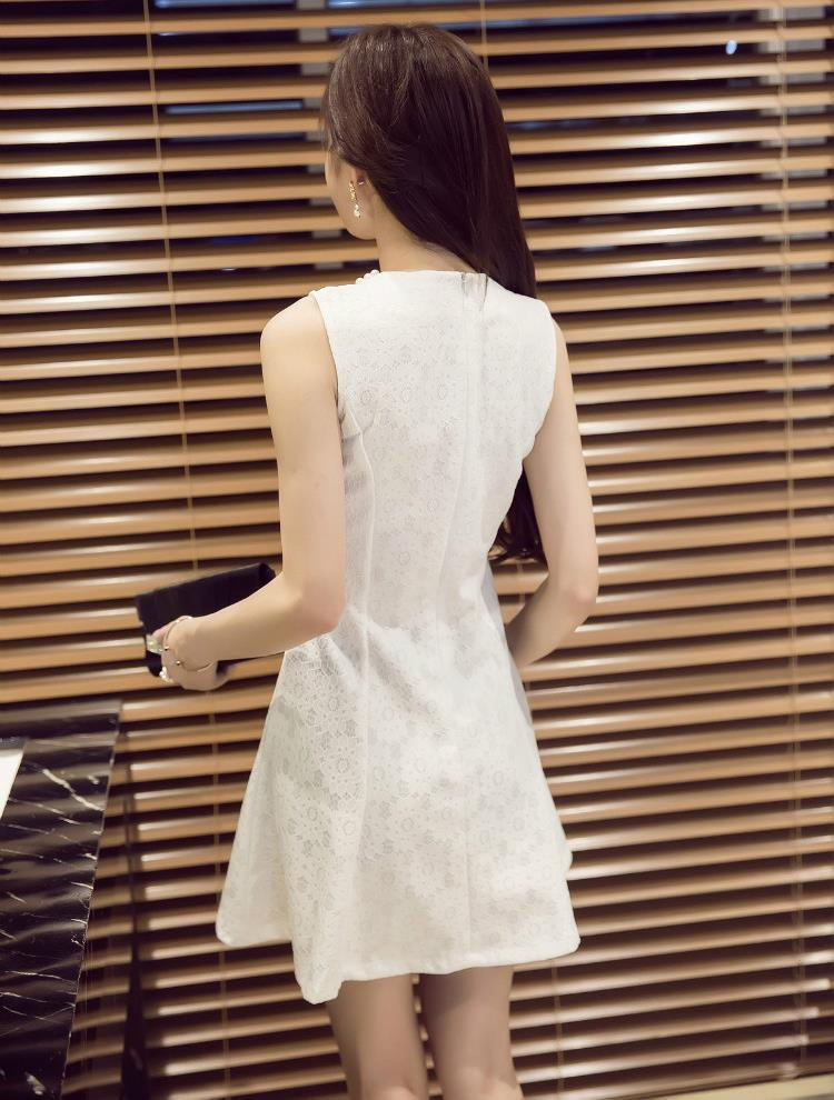 Women's Lace Printing Sleeveless Dress