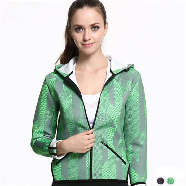 Women Space Cotton Sports Jacket Jogging Fitness Gym Outwear Casual Cl