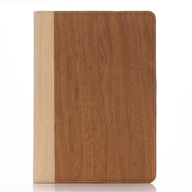 Wood Texture Ultra Thin Magnetic Leather Case for ipad air2/ipad6