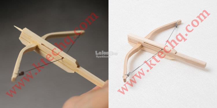 Wood Toothpick Mini Crossbow Child Toy Game Car Decor Shooting Bow