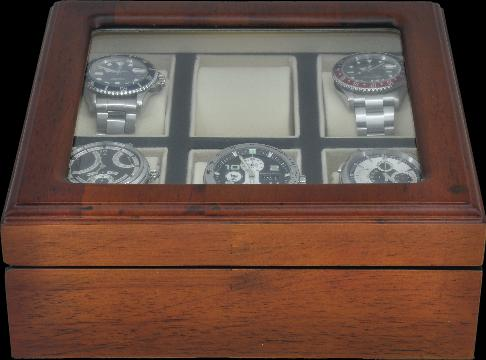 Wooden Watch Display Box Wooden 6 pc Watch Box Display