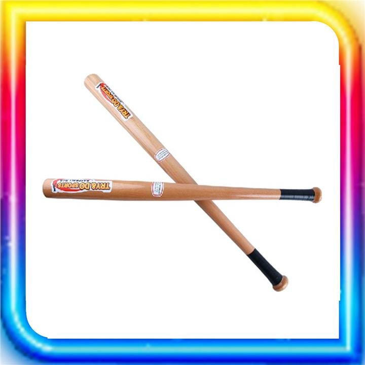 Wooden Baseball Bat Thick Solid Hardwood