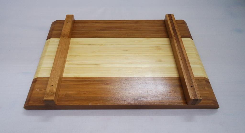 Wooden Flat Tray with Leg - Large