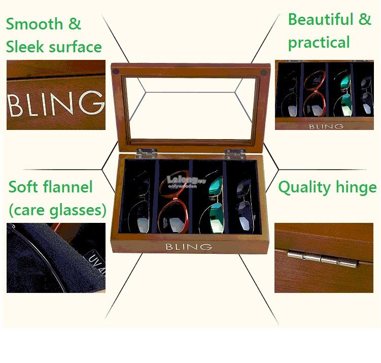 Wooden Glasses box, Sunglasses Display Storage, Car Spectacles Boxes