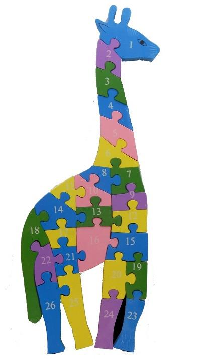 Wooden Puzzle Giraffe (For Age 3 Years +)
