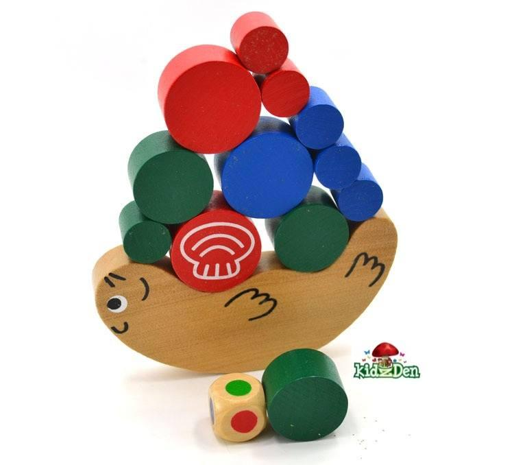 Wooden Snail Balance Game