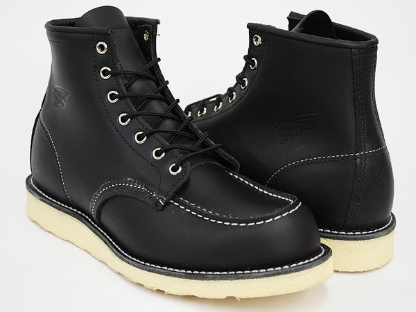 Work Boots Red Wing Lifestyle 6 Inch Black 8130