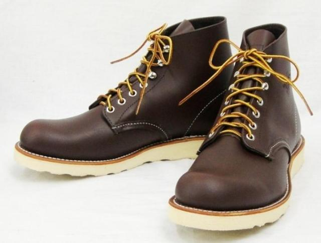 Work Boots Red Wing Lifestyle 6 Inch Chocolate Brown 8134