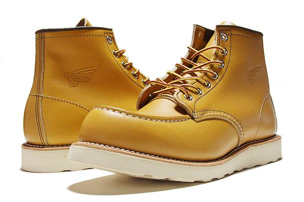 Work Boots Red Wing Lifestyle 6 Inch Tan Yellow 8140