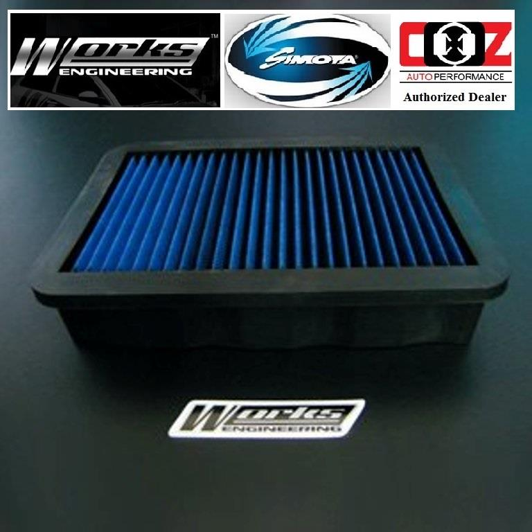 WORKS ENGINEERING SIMOTA DROP IN AIR FILTER MITSUBISHI LANCER GT 2.0