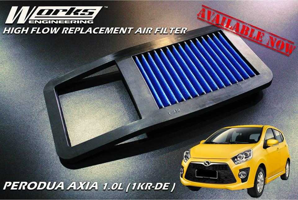 WORKS ENGINEERING SIMOTA DROP IN AIR FILTER PERODUA AXIA 1.0