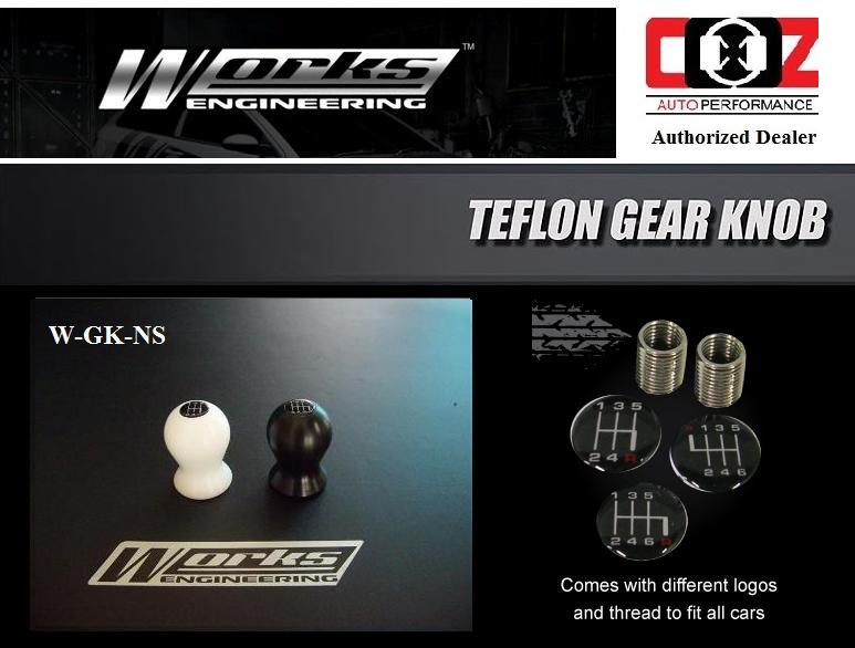 Works Engineering Teflon Gear Knob W-GK-NS /Nismo Design (White)