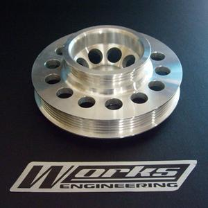 WORKS USA T7 Crank Pulley: HONDA INTEGRA DC5/ CIVIC FD TYPE-R