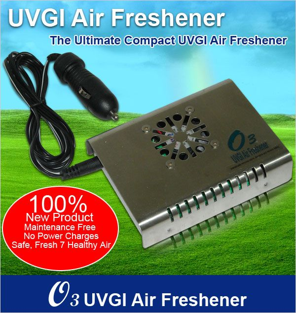 <B>WORLD BEST O3 UVGI Car Air Freshener In-Car Ionizer RP: Rm580</B>