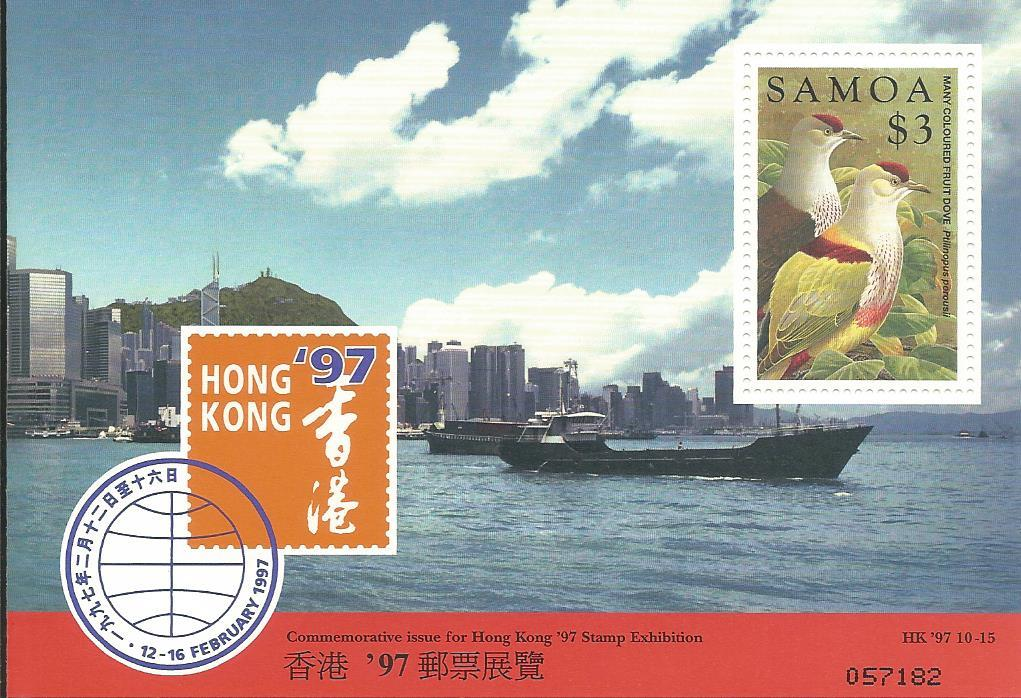 WS-22M SAMOA 1997 HK STAMP EXHIBITION MS