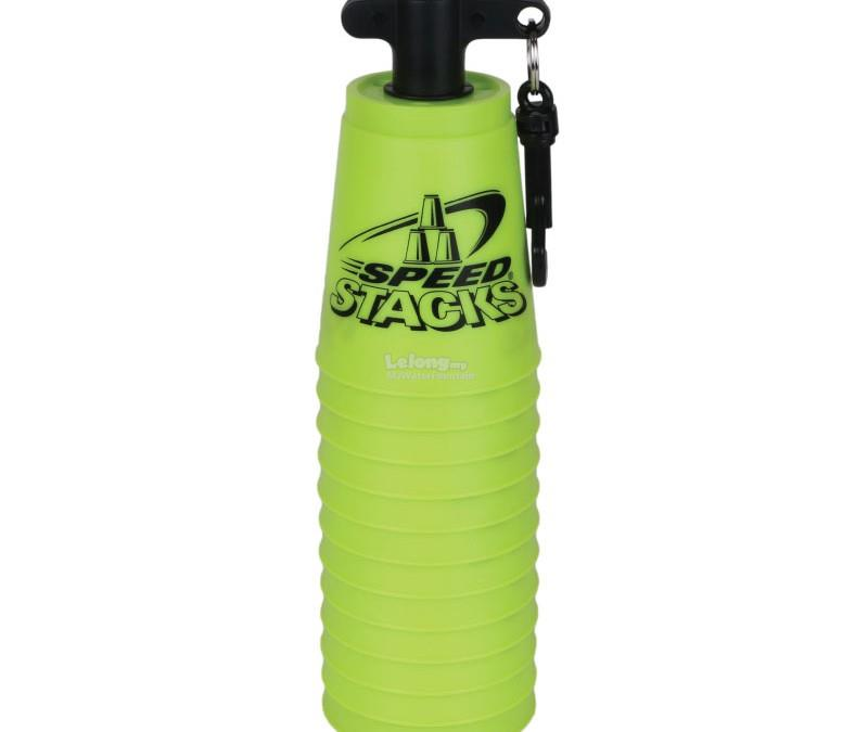 WSSA Sport Speed Stacking Original Snap Top CUP w Holding Stem Yellow
