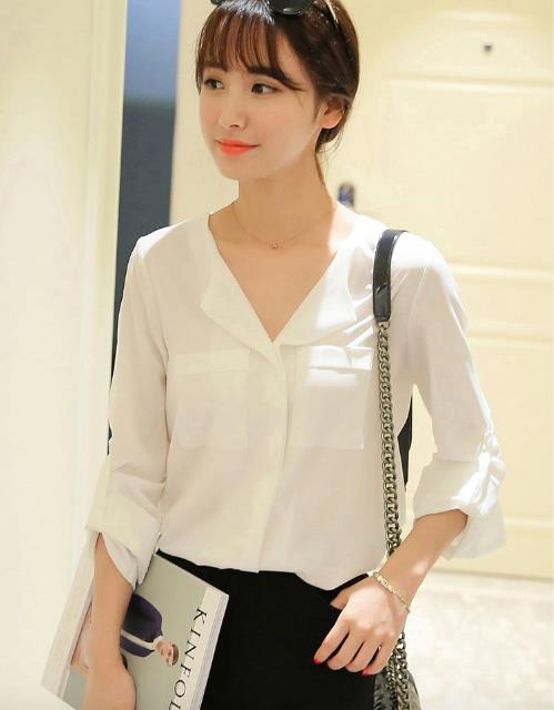 WT3729 Korea Fashion Stylish Top White