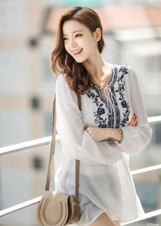 WT6288 Fashion Pretty Loose Top White