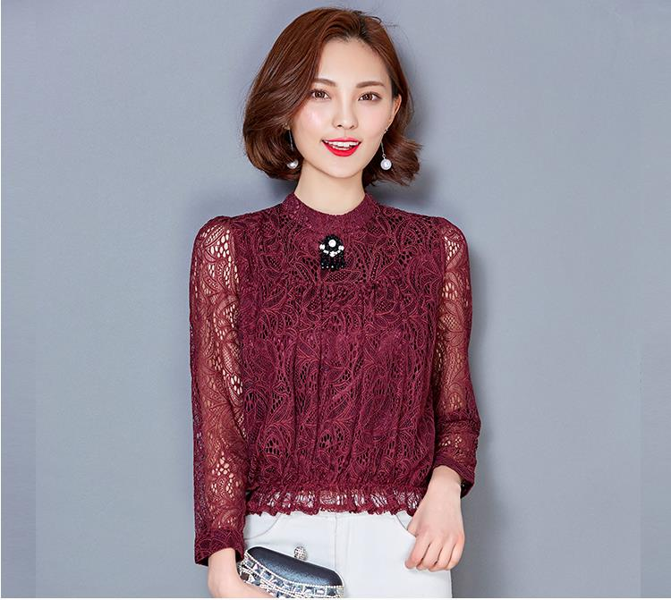 WT7115 Fashion Lace Top As Picture