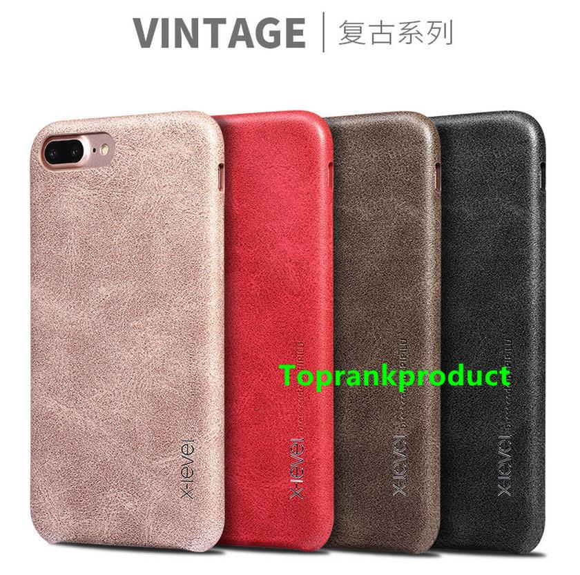 X-Level Apple iPhone 7 / Plus Vintage Leather Back Case Cover Casing