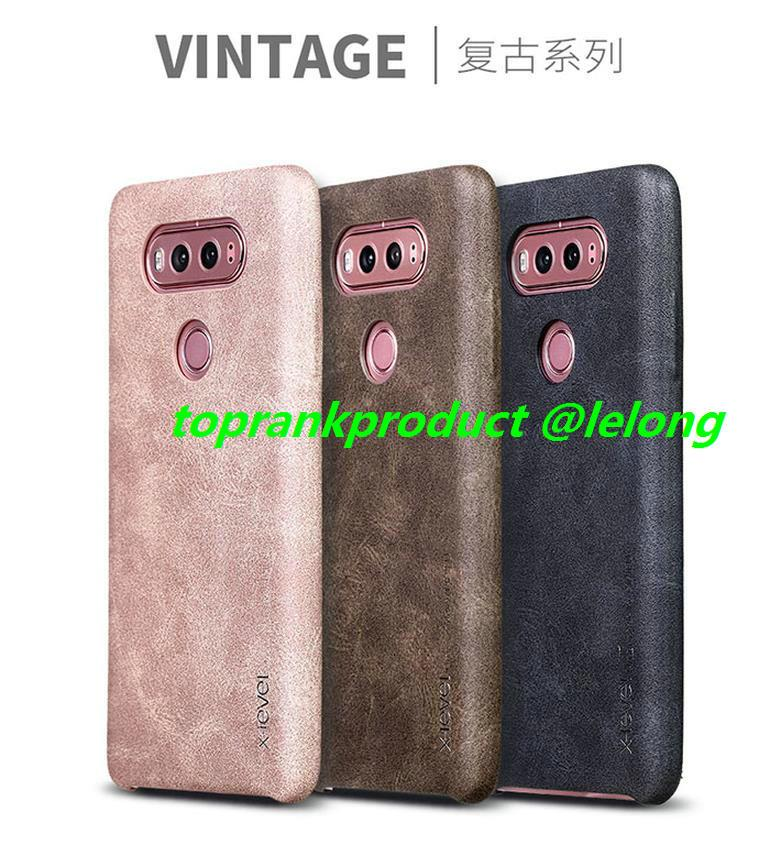X-Level LG V10 V20 G5 Leather Armor Back Case Cover Casing +Free Gift