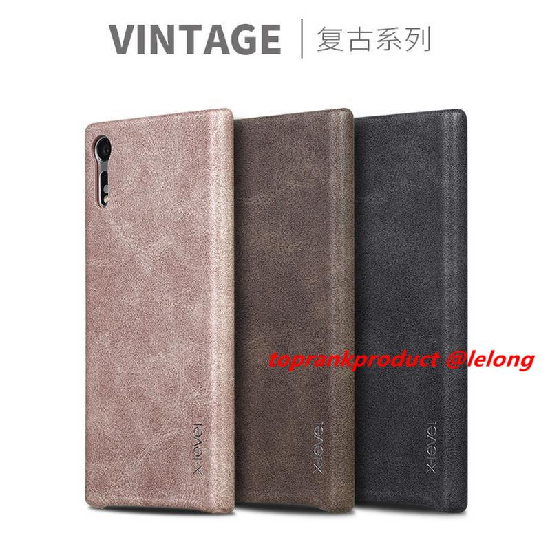 X-Level Sony Xperia XZ F8332 Vintage Leather Back Case Cover Casing