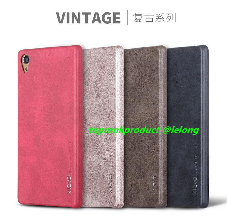 X-Level Sony Xperia Z5 Premium Vintage Leather Back Case Cover Casing