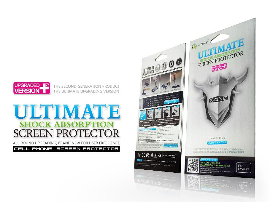 X-One Ultimate Shock Absorption Screen Protector Iphone 6 6g 4.7 / 5.5
