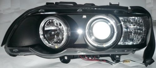 X5 '98-02 EAGLE EYES WITH MOTOR LED Projector Head Lamp [HL-017-BMW]