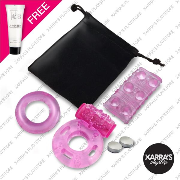 Xarra's Vibrating Ring + Stay-Hard O-Ring + Sleeve - Adult Sex Play