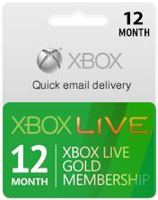 Xbox Live Gold Subscription Card (12 Month Membership)