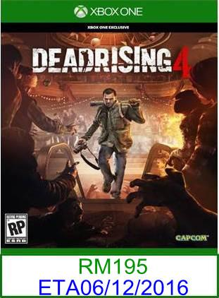 XboxOne PREORDER Dead Rising 4 ★Brand New & Sealed★