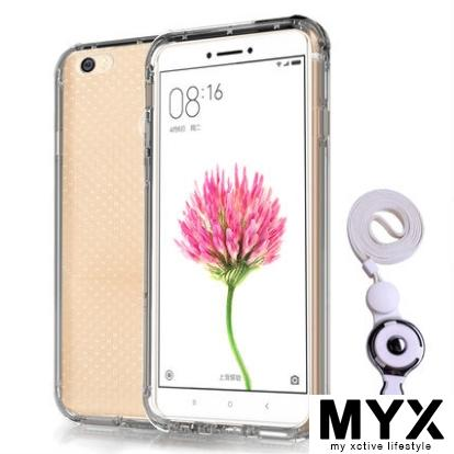 Xiaomi Max 6.4'' Silicone Transparent Drop Resistance with Lanyard