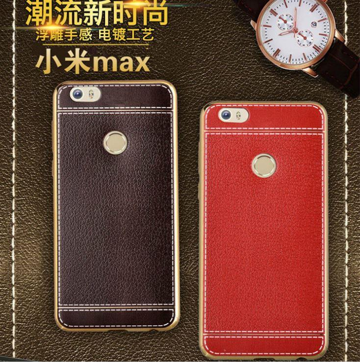 XIAOMI MI MAX PU Ultra Slim Leather TPU Back Case Cover