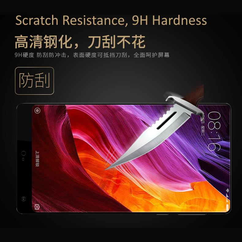 Xiaomi Mi Mix Tempered Glass Full Screen Protector (Free TPU Case)