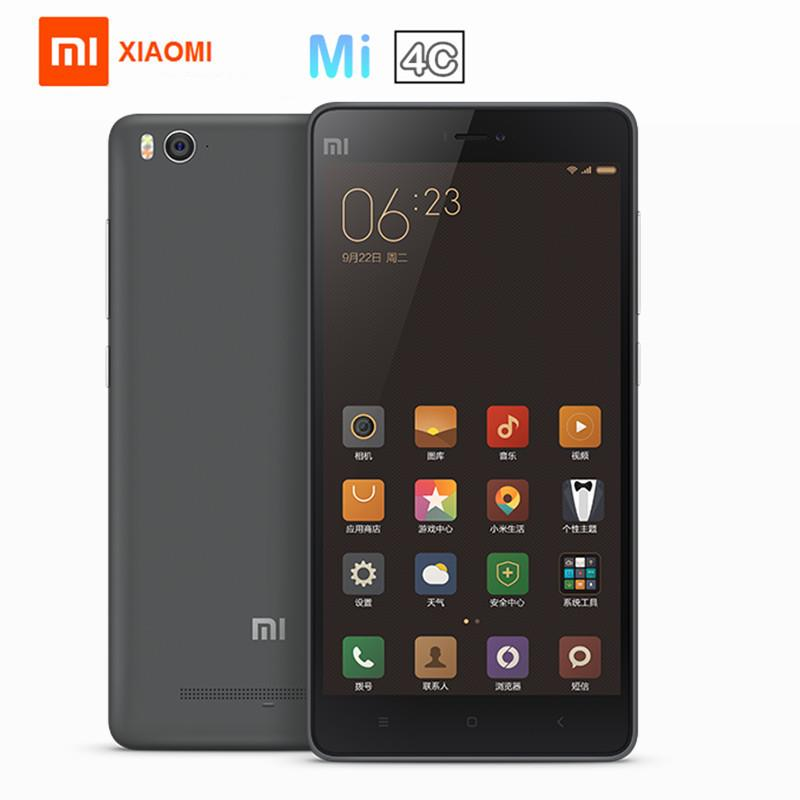 "Xiaomi Mi4C 5.0"" 4G LTE Phone 2GB+16GB 13MP+5MP Dual SIM Android Grey"