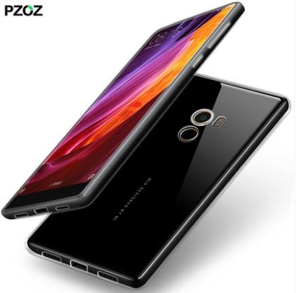 Xiaomi Mix Thin Soft SiliconeTransparent Casing Case Cover
