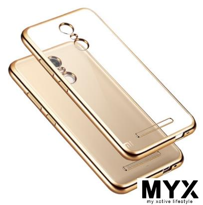 Xiaomi Note 3 5.5 inch Chrome Soft Silicone Casing Case Cover *Free SP