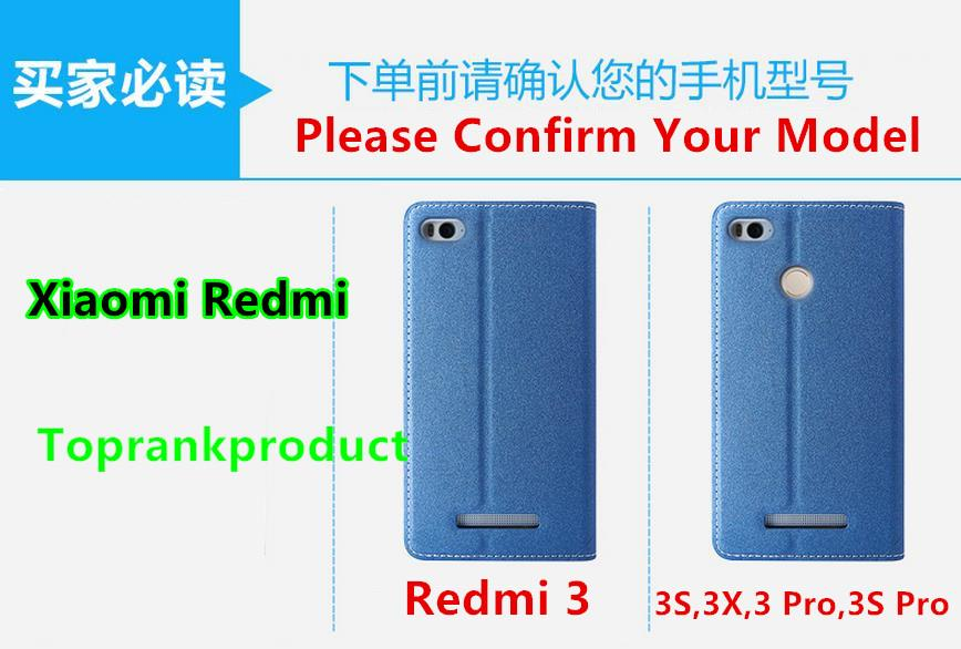 Xiaomi Redmi 3 3S 3X Pro Flip Stand Case Cover Casing + Tempered Glass