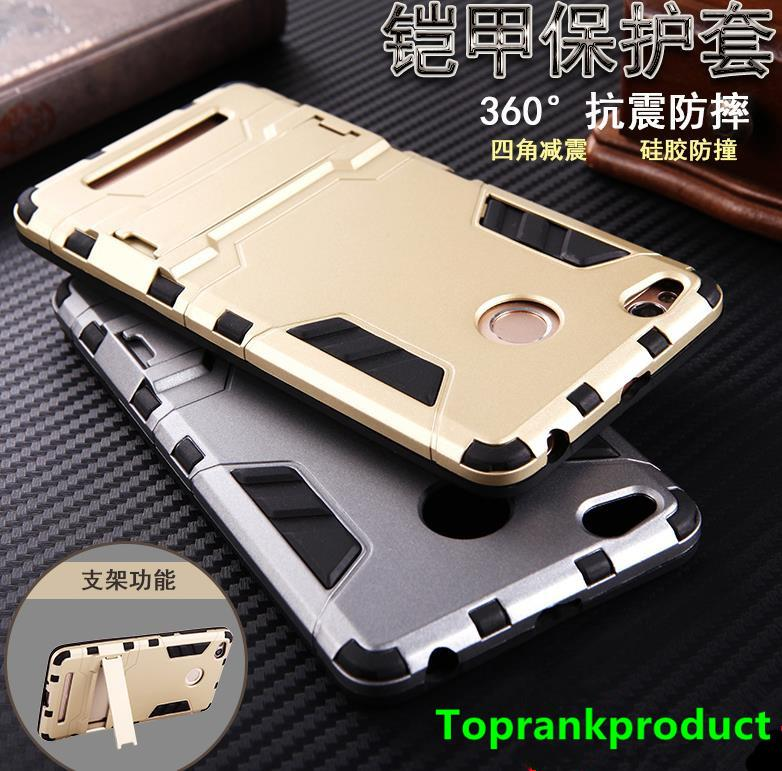 Xiaomi Redmi 3 3S Pro PC+TPU ShakeProof Stand Case Cover Casing