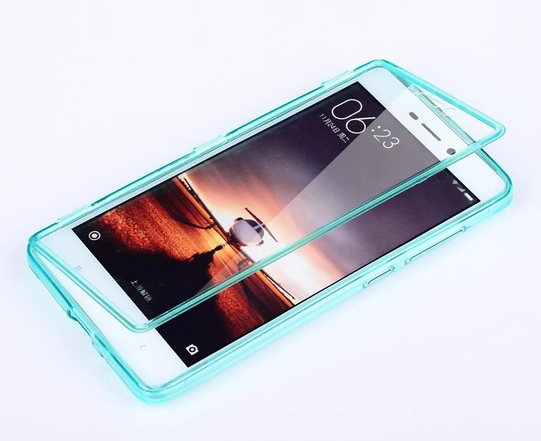 Xiaomi Redmi 3 Transparent Flip Armor Case Cover Casing + Free Gift