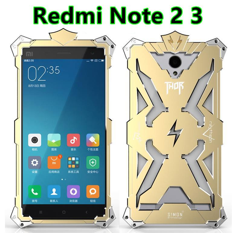 Xiaomi Redmi Note 2 3 Aluminium Thor Metal Case Cover Casing + Gifts