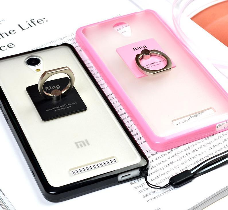 Xiaomi Redmi Note 2 3 Pro Back Case Cover Casing + Ring Holder Stand