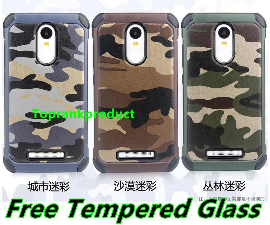 Xiaomi Redmi Note 2 3 ShakeProof Case Cover Casing + Tempered Glass