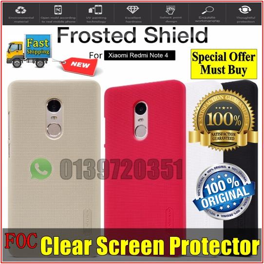 Xiaomi Redmi Note 4 Nillkin Frosted Shield Hard Back Cover Casing