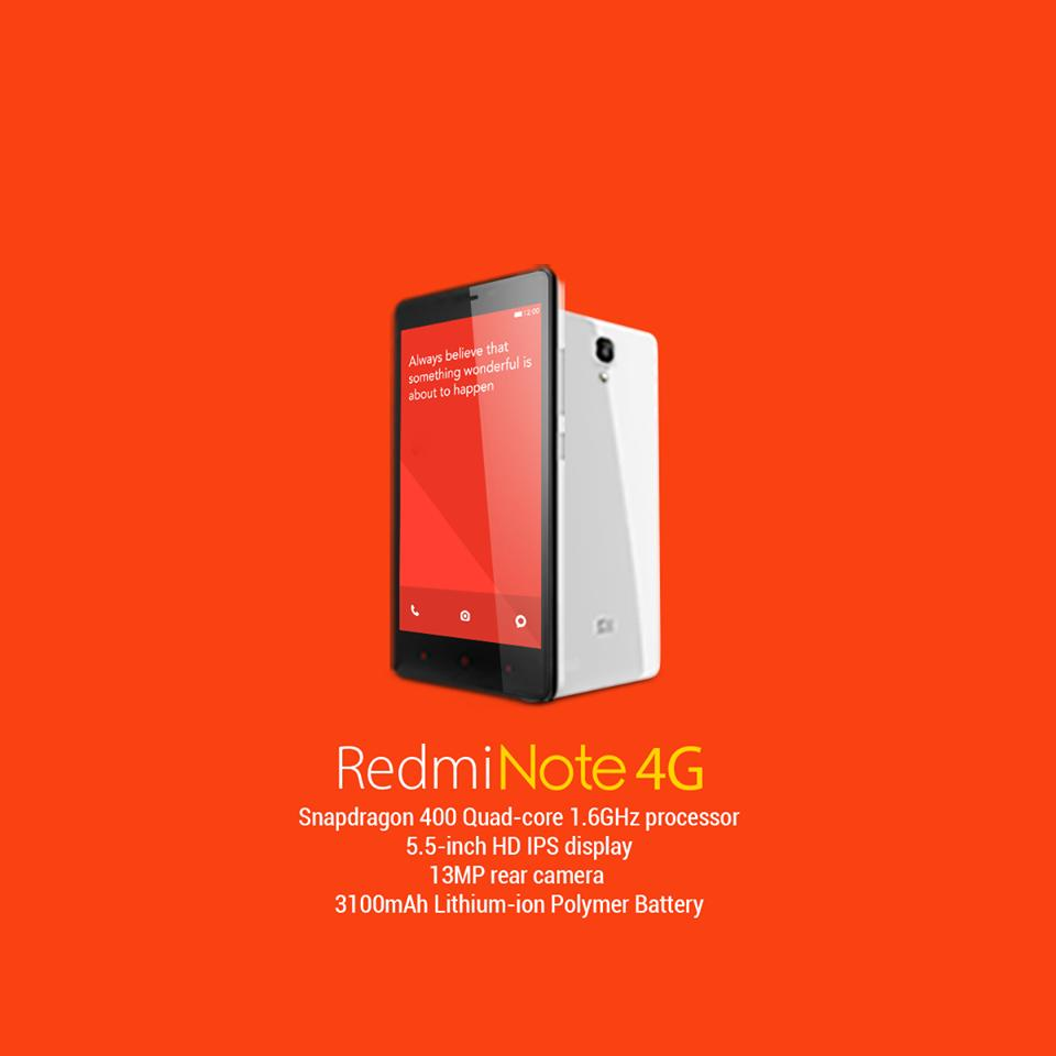 xiaomi redmi note 4g fdd lte 2gb ram end 9 25 2015 5 15 am