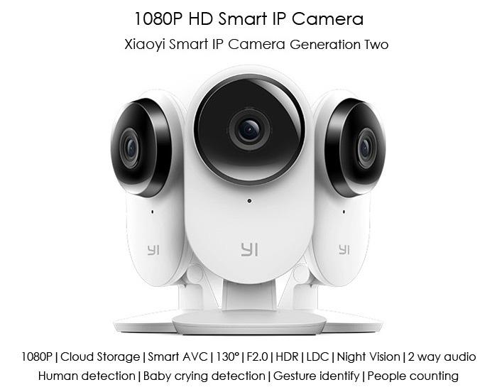 XiaoMi XiaoYi Yi Smart Home CCTV IP camera (2nd Generation) FHD 1080P