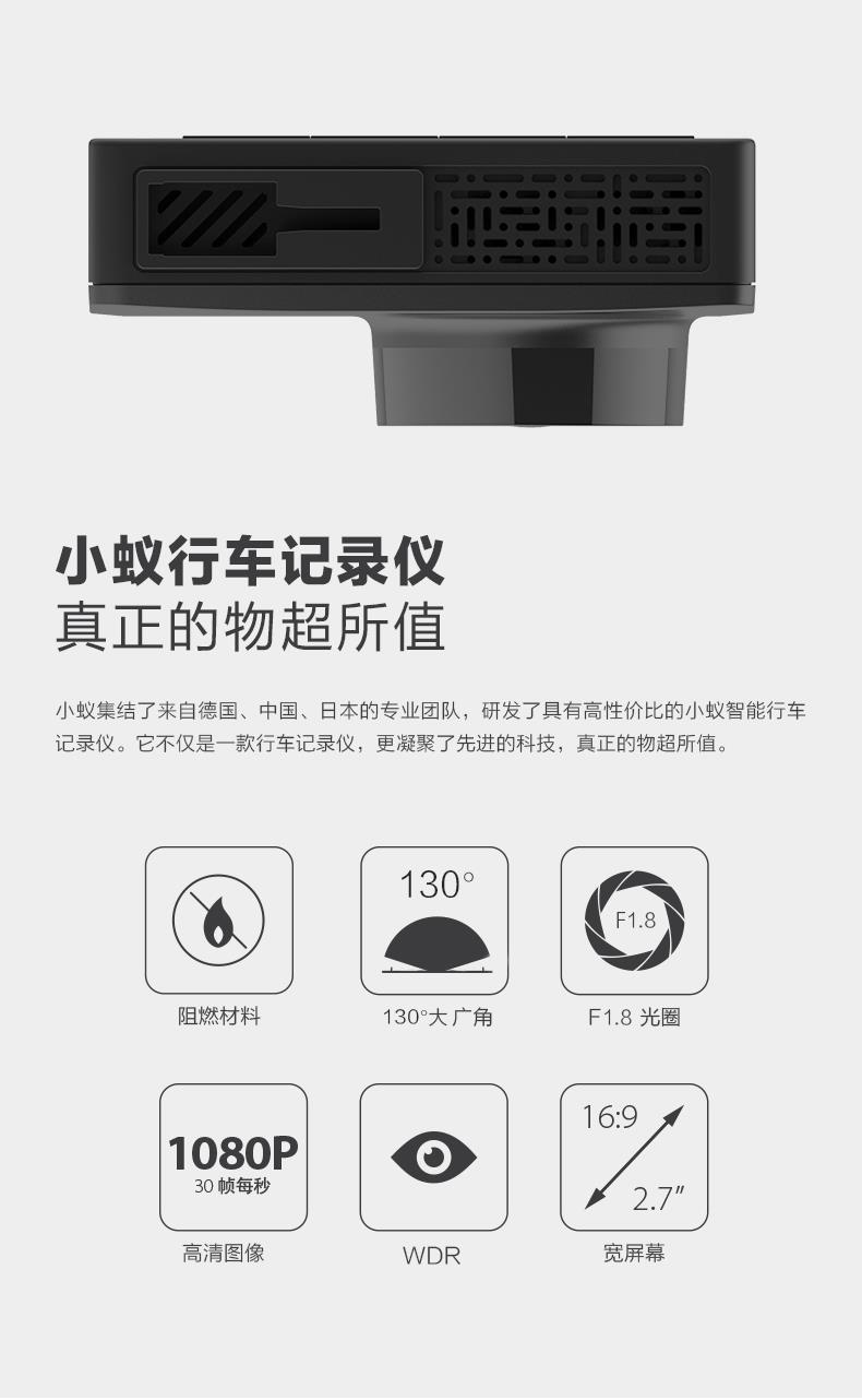 XiaoYi Yi BLACK POWER EDITION Car Dashcam 1080P